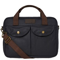 Barbour Wax Longthorpe Laptop Bag Blue