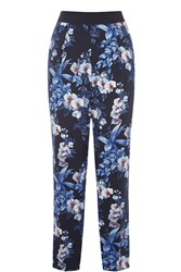 Oasis Tropical Orchid Soft Trouser Navy