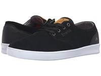 Emerica The Romero Laced Black Black White Men's Skate Shoes
