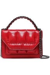 Elena Ghisellini Woman Eclipse Quilted Leather Shoulder Bag Crimson