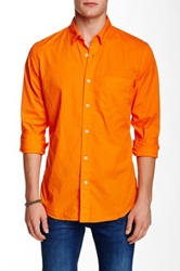 Relwen Garment Dyed Poplin Shirt Orange