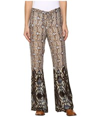 Stetson Aztec Border Print Leisure Pants Brown Women's Casual Pants