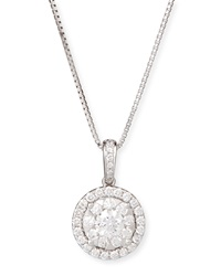 Bouquet 18K White Gold Diamond Pendant Necklace Memoire