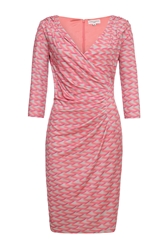 Almost Famous Brush Stroke Asymmetrical Dress Pink
