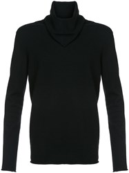Label Under Construction Longsleeved Fitted Sweater Black