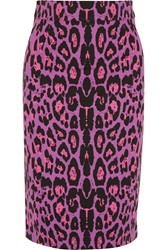 Alice By Temperley Gwen Leopard Print Ponte Pencil Skirt Animal Print