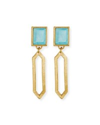 Stephanie Kantis Piccola Turquoise Statement Earrings Gold