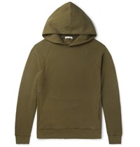 Alex Mill Loopback Cotton Jersey Hoodie Green