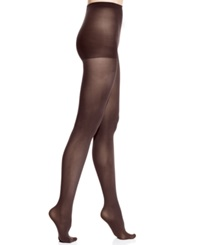 Dkny Opaque Control Top Tights 2 Pack Brown Black