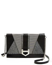 Milly Whitney Clutch Black White
