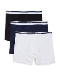 Nautica Three Pack Classic Boxer Briefs Black Multi