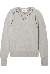 Bassike Embroidered Cashmere Sweater Gray