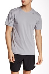Adidas All World Short Sleeve Tee Gray