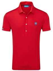 Bunker Mentality Plain Polo Regular Fit Polo Shirt Red