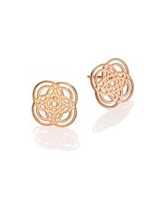 Ginette_Ny Purity Gold 18K Rose Gold Stud Earrings Pink