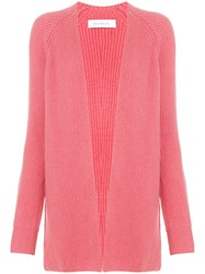Ryan Roche Deconstructed Cardigan Pink And Purple