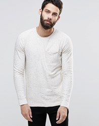 Only And Sons Knitted Jumper With Fleck Off White