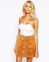 Fashion Union Lace Bralet Cream