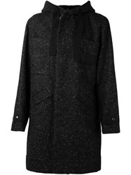 Tillmann Lauterbach 'Massot' Hooded Coat Black