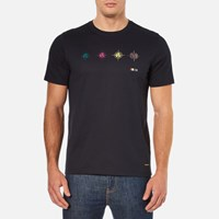 Paul Smith Ps By Men's Targets T Shirt Navy Blue