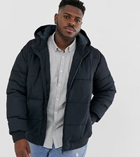 Only And Sons Hooded Padded Jacket In Navy