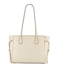 Donna Karan East West Leather Tote Bag White