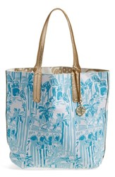 Lilly Pulitzer Lily Pulitzer Reversible Shopper Tote Blue La Via Loca