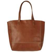 Fat Face Large Leather Tote Bag Tan
