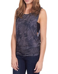 William Rast Tonal Burst Print Muscle Tank Black