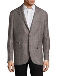 Corneliani Checkered Wool Jacket Beige Check