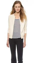 The Lady And The Sailor Varsity Zip Up Cardigan Natural