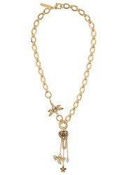 Alberta Ferretti Chunky Chain Necklace Gold
