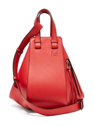 Loewe Hammock Small Smooth Leather Bag Red
