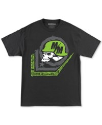 Metal Mulisha Men's Scale Logo Print Cotton T Shirt Black