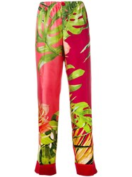 F.R.S For Restless Sleepers Leaf Print Pyjama Trousers Red