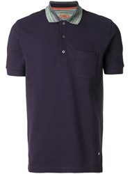 Missoni Striped Collar Polo Shirt Pink And Purple