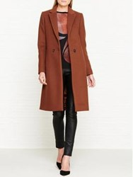 Jigsaw Matchinsky Narrow Double Button Coat Redwood