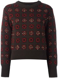 Each X Other 'Intarsia' Jumper Brown
