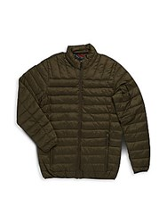 Hawke And Co Big Tall Solid Packable Puffer Jacket Loden