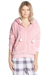 Women's Cozy Zoe Fleece Zip Hoodie Pink Bunny