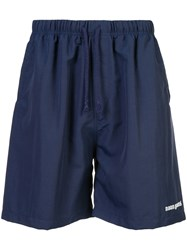 Noon Goons Embroidered Logo Shorts Blue