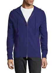 Saks Fifth Avenue Cashmere Front Zip Hoodie Aegean Blue