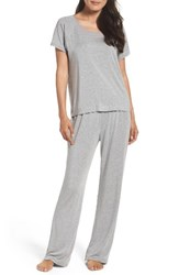 Naked Women's Stretch Modal Pajamas Light Grey Heather