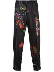 Y 3 Printed Satin Track Pants Black
