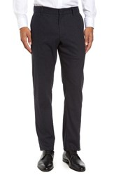 Zachary Prell Men's Rushmore Pinstripe Stretch Wool Blend Trousers Navy