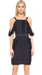 Wgaca Fendi Dress Previously Owned Dark Blue