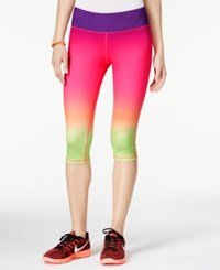 Material Girl Active Juniors' Ombre Cropped Leggings Only At Macy's Sunset
