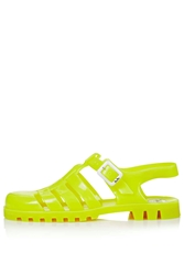 Huey2 Maxi Jelly Sandals By Juju Yellow