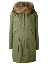Mr And Mrs Italy Army Long Parka Women Cotton Lamb Skin Polyamide Coyote Fur Xs Green