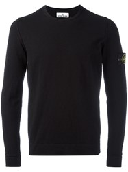 Stone Island Crew Neck Jumper Black